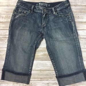 Mossimo blue denim Jean Bermuda shorts Junior 11